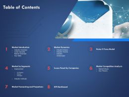 Table Of Contents Market Forecasting And Projections Ppt Powerpoint Presentation Tips
