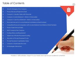 Table Of Contents N553 Powerpoint Presentation Aids