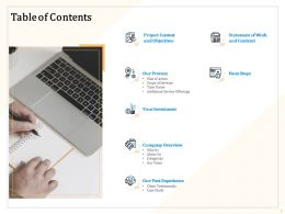 Table Of Contents Next Steps Ppt Powerpoint Presentation File Topics
