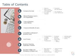 Table Of Contents Organization L1812 Ppt Powerpoint Presentation Introduction