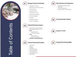 Table Of Contents Our Communication Channels Ppt Influencers