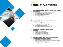 Table Of Contents Overview M559 Ppt Powerpoint Presentation Pictures Templates