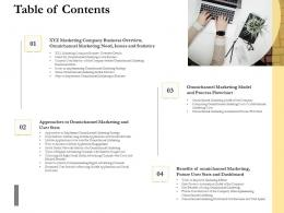 Table Of Contents Ppt Guidelines