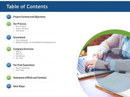 Table Of Contents Ppt Infographics