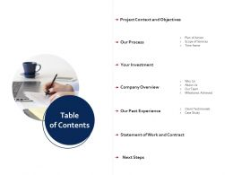 Table Of Contents R248 Ppt Powerpoint Presentation File Clipart Images