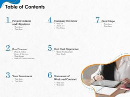 Table Of Contents R252 Ppt Powerpoint Presentation File Design Inspiration