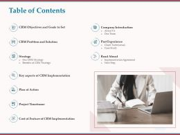 Table Of Contents Road Ahead Ppt Powerpoint Presentation Icon Model