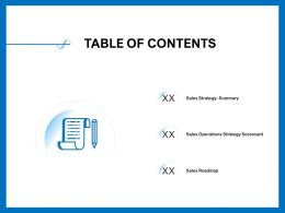 Table Of Contents Scorecard M400 Ppt Powerpoint Presentation Model Background