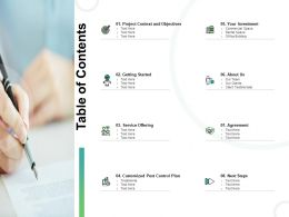 Table Of Contents Service L753 Ppt Powerpoint Presentation Styles
