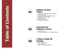 Table Of Contents Strategy Benefits N79 Ppt Powerpoint Presentation Guidelines