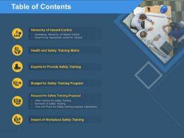 Table Of Contents Training M275 Ppt Powerpoint Presentation Portfolio Brochure