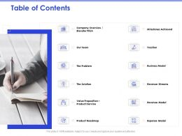 Table Of Contents Value Proposition M312 Ppt Powerpoint Presentation Picture