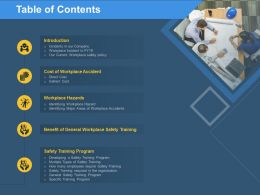 Table Of Contents Workplace M276 Ppt Powerpoint Presentation Portfolio Grid