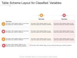 Table Scheme Layout For Classified Variables Infographic Template