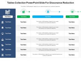 Tables Collection Powerpoint Slide For Dissonance Reduction Infographic Template