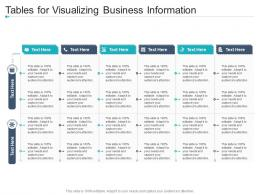 Tables For Visualizing Business Information Infographic Template