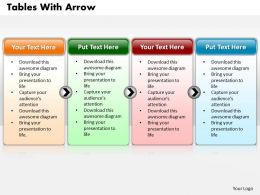 Tables With Arrow Power Point Template1