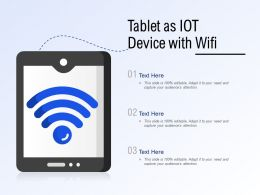 Tablet As IOT Device With Wifi