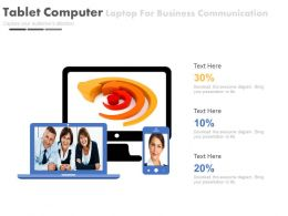 Tablet Computer Laptop For Business Communication Powerpoint Slides