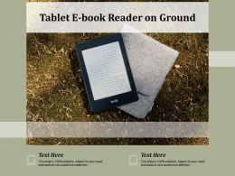 Tablet E Book Reader On Ground