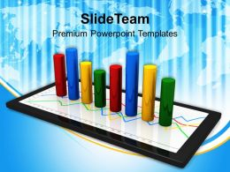 tablet_with_a_bar_graph_powerpoint_templates_ppt_themes_and_graphics_0113_Slide01