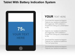 Tablet With Battery Indication System Flat Powerpoint Design