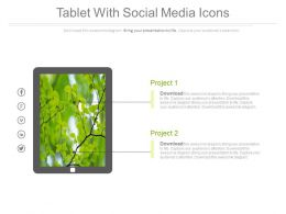 Tablet With Social Media Icons Flat Powerpoint Design