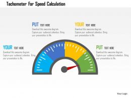 Tachometer For Speed Calculation Flat Powerpoint Design