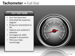 Tachometer Full Dial Powerpoint Presentation Slides