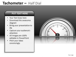 Tachometer Half Dial Powerpoint Presentation Slides DB