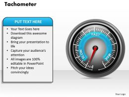 Tachometer Powerpoint Template Slide