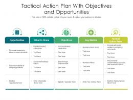 Tactical Action Plan With Objectives And Opportunities