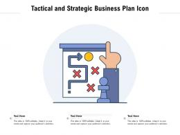 Tactical And Strategic Business Plan Icon