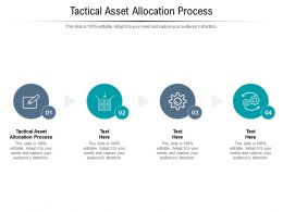 Tactical Asset Allocation Process Ppt Powerpoint Presentation Infographic Template Designs Cpb