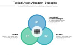 Tactical Asset Allocation Strategies Ppt Powerpoint Presentation Portfolio Skills Cpb