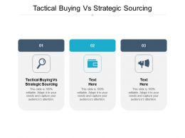 Tactical Buying Vs Strategic Sourcing Ppt Powerpoint Presentation Gallery Infographic Template Cpb