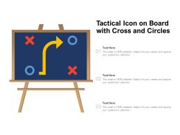 Tactical Icon On Board With Cross And Circles