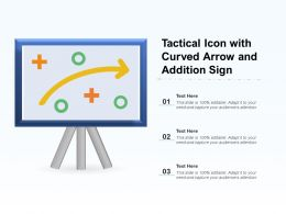 Tactical Icon With Curved Arrow And Addition Sign