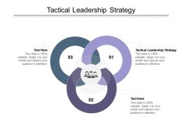 Tactical Leadership Strategy Ppt Powerpoint Presentation Slides Templates Cpb