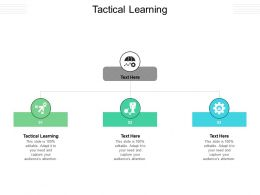Tactical Learning Ppt Powerpoint Presentation Inspiration Visual Aids Cpb