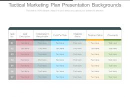 Tactical Marketing Plan Presentation Backgrounds