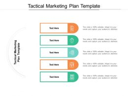 Tactical Marketing Plan Template Ppt Powerpoint Presentation File Grid Cpb
