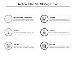 Tactical Plan Vs Strategic Plan Ppt Powerpoint Presentation Pictures Structure Cpb
