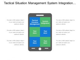 Tactical Situation Management System Integration Field Support Secure Communication