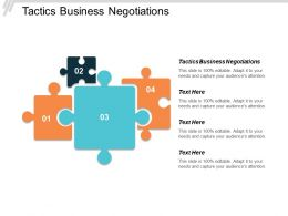 Tactics Business Negotiations Ppt Powerpoint Presentation Model Templates Cpb