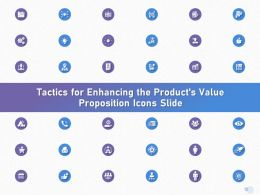 Tactics For Enhancing The Products Value Proposition Icons Slide Ppt Powerpoint Presentation Ideas