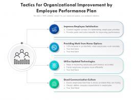 Tactics For Organizational Improvement By Employee Performance Plan