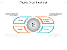 Tactics Grow Email List Ppt Powerpoint Presentation Pictures Objects Cpb