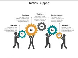 Tactics Support Ppt Powerpoint Presentation Icon Format Ideas Cpb