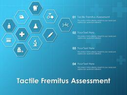 Tactile Fremitus Assessment Ppt Powerpoint Presentation Background Designs